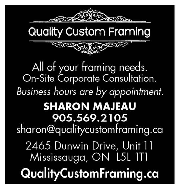 Quality Custom Framing Lakeshore Art Trail ad 2017